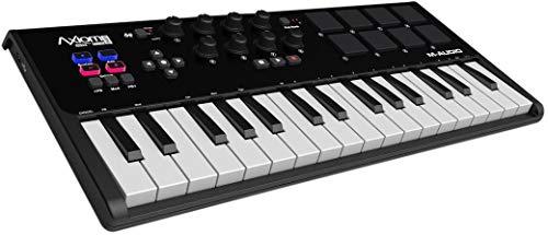 M-Audio Axiom AIR Mini 32   Premium 32-Key USB MIDI Keyboard & Drum Pad Controller (8 Pads / 8 Knobs), VIP Software Download Included