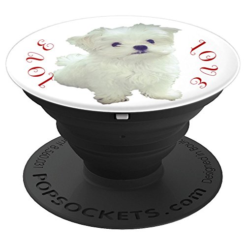 White Maltese Puppy Love PopSockets Grip Stand Phones Tablet - PopSockets Grip and Stand for Phones and Tablets