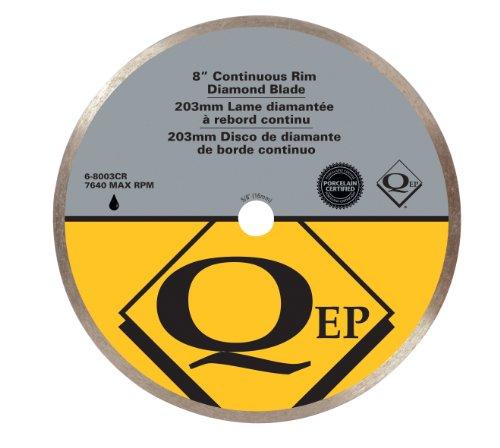 QEP 6-8003Q 8' Premium Continuous Rim Diamond Blade For Wet Cutting Porcelain & Ceramic Tile
