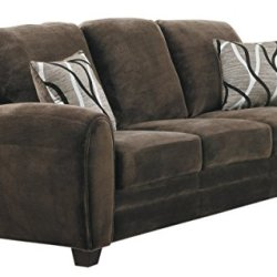 Homelegance Rubin 85″Plush Fabric Sofa, Chocolate