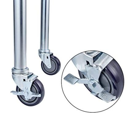 Profeeshaw-Caster-Wheel-4-Inch-Set-of-4-for-Prep-Work-Table-and-Equipment-Stands-for-Home-and-Commercial-Kitchen-2-with-Brakes-2-Without