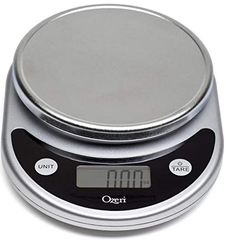 Ozeri ZK14-S Pronto Digital Multifunction Kitchen and Food Scale, Elegant Black (Renewed)