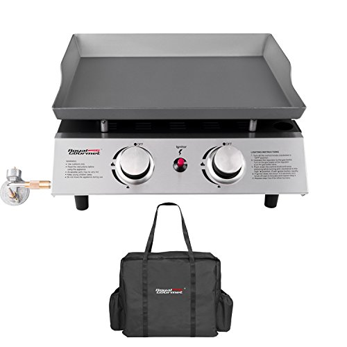 Royal Gourmet Portable 2 Burner Propane Gas Grill Griddle Pd1201 ( Griddle + Carry Bag)