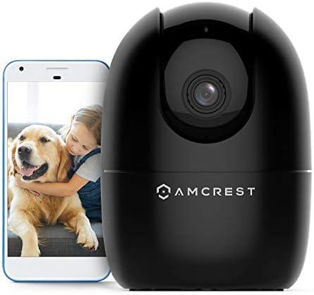 Amcrest 1080P Smart Home WiFi Camera, Baby Monitor, AI Human Detection, Motion-Tracking, Indoor Pet, Dog, Nanny Cam w/ 2-Way Audio, Phone App, Pan/Tilt Wireless IP Camera, Night Vision, ASH21-B Black