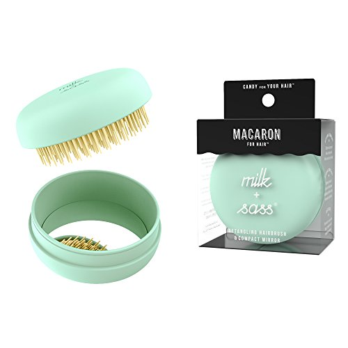 41YU7cnY8GL Superior tangle taming, minimal breakage, and maximum shine Macaron's uniquely sturdy bristles work on every hair age, type, and texture Works wonders on wigs, weaves, and hair extensions