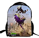 AUGYUESS 3-6 Years Game Plants vs. Zombies Backpack School Bag Daypack Bookbag Shoulder Bag
