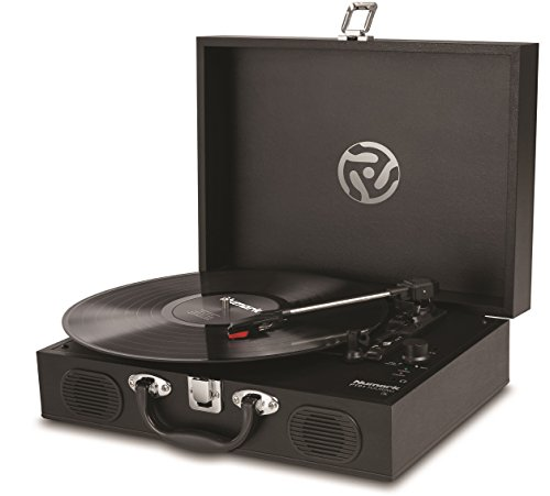 Numark PT01 Touring | Classically-styled Suitcase Turntable with USB Port, and Built-In Speakers & Rechargeable Battery