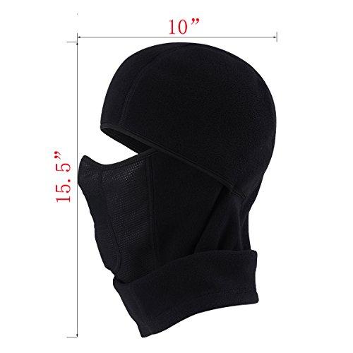 e497b5ffd75 MIFULGOO Balaclava Fleece Hood With Neck Cover Half Face Ski Mask ...