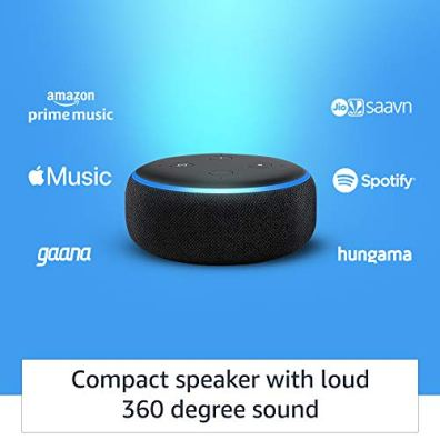 Echo-Dot-3rd-Gen-Black-Wipro-9W-LED-Smart-Color-Bulb-combo-Works-with-Alexa-Smart-Home-starter-kit