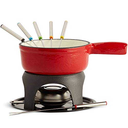 VonShef-Swiss-Fondue-Set-Cast-Iron-Pot-with-Fuel-Burner-and-6-Forks-Included-Ideal-for-a-Cheese-or-Chocolate-Fondue-11-Quart-Capacity