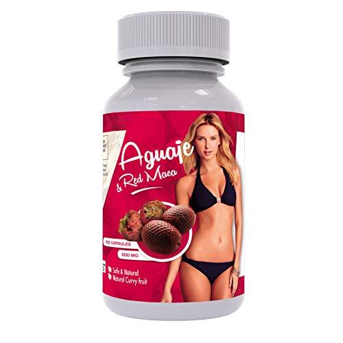 Curves Capsules for Women - Natural Supplement - Gelatinized - 1000 mg per Serving - Butt and Breast Enhancement Pills - Aguaje and Red Maca Root from Peru - Kosher Certified - Free PDF Guide