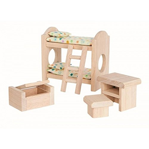 Plan Toy Doll House Children's Bedroom - Classic Style