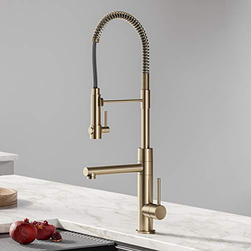 Kraus-KPF-1603SFACB-Artec-Pro-2-Function-Commercial-Style-Pre-Rinse-Kitchen-Faucet-with-Pot-Filler-Spot-Free-Antique-Champagne-Bronze