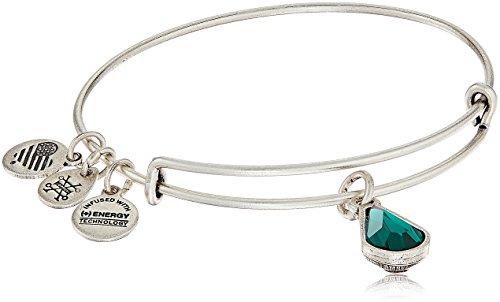 Alex and Ani May Birth Month Charm with Swarovski Crystal Rafaelian Silver Bangle Bracelet