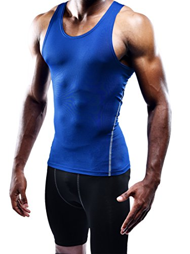 Neleus Men's 3 Pack Athletic Compression Under Base Layer Sport Tank Top 19 Fashion Online Shop gifts for her gifts for him womens full figure