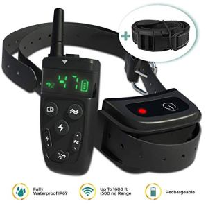 TBI Pro Professional Dog Training Collar with Remote - Long-Range 1600 feet - Flash, Vibration Control Modes, Rechargeable and Fully IPX7 Waterproof for Small, Medium, Large Dogs, All Breeds 1