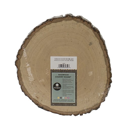 Walnut Hollow Basswood Country Round, Thick for Woodburning, Home Décor and Rustic Weddings