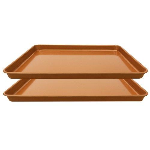 Gotham Steel Baker S Cookie Sheet And Baking Pan Set