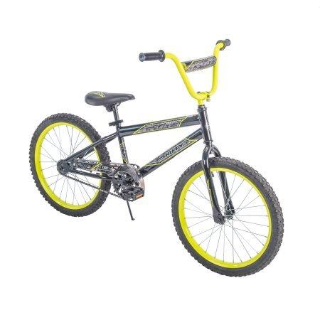 Huffy.. 20' Rock It Boys' Bike, Metallic Black with Neon Yellow Accents