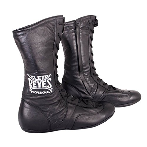 Cleto Reyes Leather High Top Lace Up Boxing Shoes - Black - 7