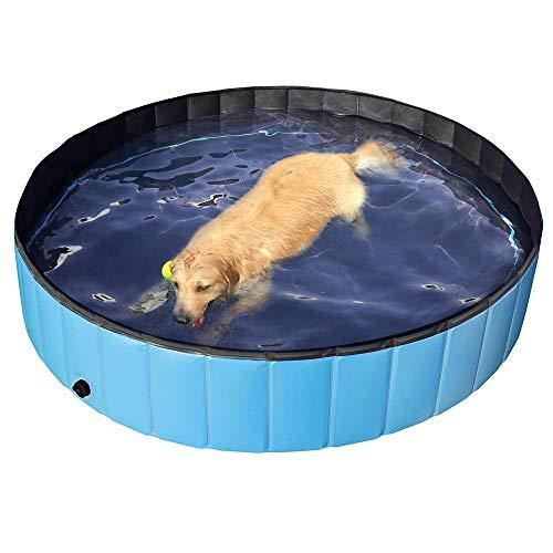 Yaheetech Foldable Pet Bath Pool Collapsible Large Dog Pet Pool Bathing Swimming...
