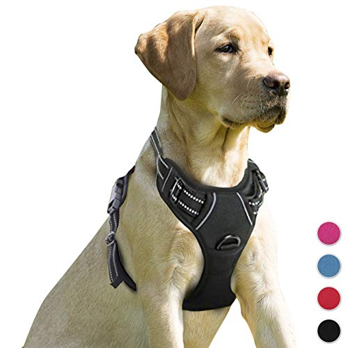 BARKBAY No Pull Dog Harness Front Clip Heavy Duty Reflective Easy Control Handle for Large Dog Walking 1