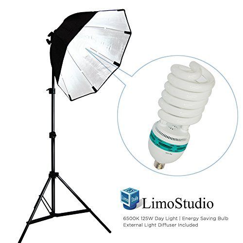 LimoStudio Photography Video Studio Continuous Softbox Lighting Light Kit with Photo CFL 105W Bulb, AGG702