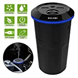 Gulaki Car Diffuser Essential Oils - Multifunction Cool Mist Car Humidifier with 2 USB Port and 1 Car Charger Socket (Black)