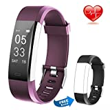 Fitness Tracker HR Activity Tracker Calorie Step Counter Pedometer Odometer, Waterproof Sleep Monitor, Smart Watch Bracelet with Free Replacement Band for Fitbit Men Women