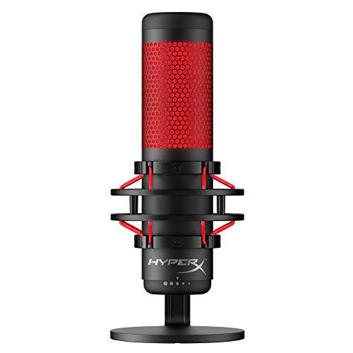 HyperX-QuadCast-USB-Condenser-Gaming-Microphone-for-PC-PS4-and-Mac-Anti-Vibration-Shock-Mount-Four-Polar-Patterns-Pop-Filter-Gain-Control-Podcasts-Twitch-YouTube-Discord-Red-LED-BlackHyperX-QuadCast-USB-Condenser-Gaming-Microphone-for-PC-PS4-and-Mac-Anti-Vibration-Shock-Mount-Four-Polar-Patterns-Pop-Filter-Gain-Control-Podcasts-Twitch-YouTube-Discord-Red-LED-Black