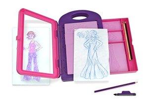Melissa & Doug Fashion Design Activity Kit (Arts & Crafts, 9 Double-Sided Rubbing Plates, 4 Pencils, Crayon, 16 Pieces)