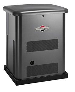 Briggs & Stratton 40511 10kW Standby Generator with 100 Amp 16 Circuit Pre-Wired Transfer Switch, Gray