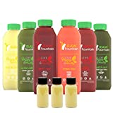 3 Day Juice Cleanse by Raw Fountain Juice - 100% Fresh Natural Organic Raw Vegetable & Fruit Juices - Detox Your Body in a Healthy & Tasty Way! (3 Day)