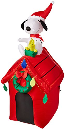 Gemmy Peanuts Snoopy Airblown Inflatable 4' Doghouse