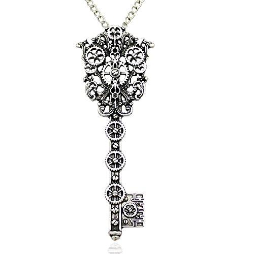 2c1bb678-vintage-victorian-filigree-skeleton-key-watch-clock-gear-cog-steampunk-chain-pendant-necklace