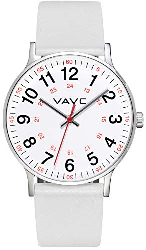 VAVC Nurse Watch for Doctors,Students and Medical Professionals with Second Hand.Women's Scrub Analog Quartz Wrist Watch with Easy to Read Dial