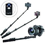 Fugetek FT-568 Professional High End Selfie Stick Monopod, for Apple, Android, DLSR Cameras, Removable Wireless Bluetooth Remote (Black)