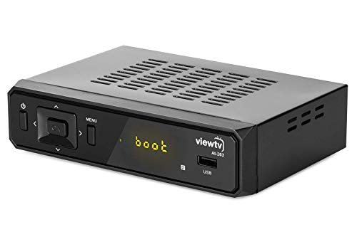 ViewTV AT-300 ATSC Digital TV Converter Box and HDMI Cable w/ Recording PVR Function / HDMI Out / Coaxial Out / Composite Out / USB Input / LED Time Display (New Model)