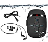 Waterproof MP3 Player for Swimming and Running,Underwater Headphones with Short Cord, Shuffle Feature (Black)