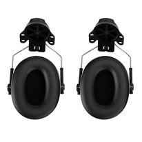 Soundproof-Noise-Reduction-Protective-Earmuffs-NRR-31dB-Safety-Ear-Muffs-Hearing-Protection-Cap-Helmet-Hard-Hat-Mounted-Earmuffs