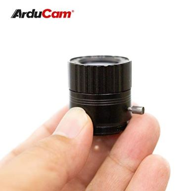 Arducam-CS-Mount-Lens-Bundle-for-Raspberry-Pi-HQ-Camera-Wide-Angle-6mm-Focal-Length-Manual-Focus-Lens-with-Portable-Tripod-Stand-and-2ft60cm-Black-Camera-Cable