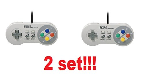 2 set of Buffalo Classic USB Gamepad for PC Nintendo SNES Super Famicon from Japan