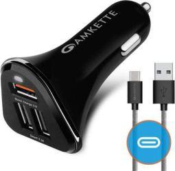 Amkette power pro 3 PORT USB Car charger
