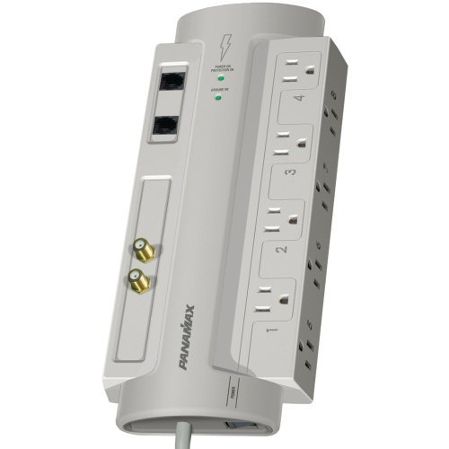 PANAMAX SP8-AV 8-Outlet SP8-AV SurgeProtector 8(TM) with Coaxial & Telephone Protection Electronics Computer Networking