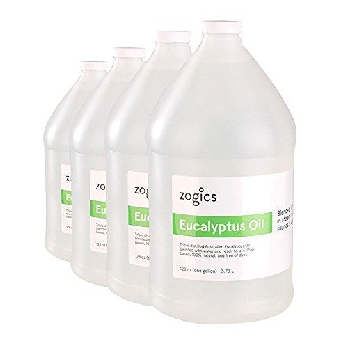 Zogics Eucalyptus Oil for Steam Room Spray (4 Gallons/Case)