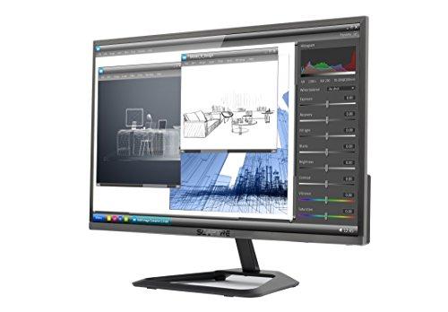 New Sceptre 22-Inch 1080p LED Monitor 75Hz Ultra Slim Frame-Less HDMI VGA, Metal Black 2018 (E225W-1920RR)