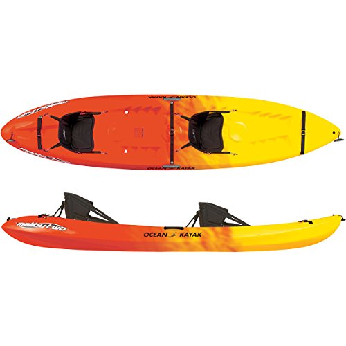 Ocean Kayak Malibu Two Tandem Sit-On-Top Recreational Kayak (Sunrise, 12-Feet)