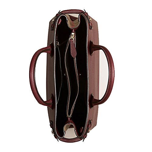 3eaccefd24d Tote Bag Handbag Authentic Burberry Medium Banner in Leather and House  Check MAHOGANY RED Item 39630371