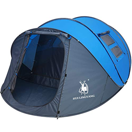 HUI-LINGYANG-4-6-Person-Easy-Pop-Up-Tent-Automatic-Setup-Double-Layer-Instant-Family-Tents-for-CampingHiking-Traveling