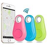 GPS tracker, EiffelT Bluetooth GPS tracker Finder Locator Pet Tracker Alarm Wireless Anti-lost Device Sensor Remote Selfie Shutter Seeker for Kids, Pet, Wallet, Keys, Car, Smartphone.Colorful 3pcs